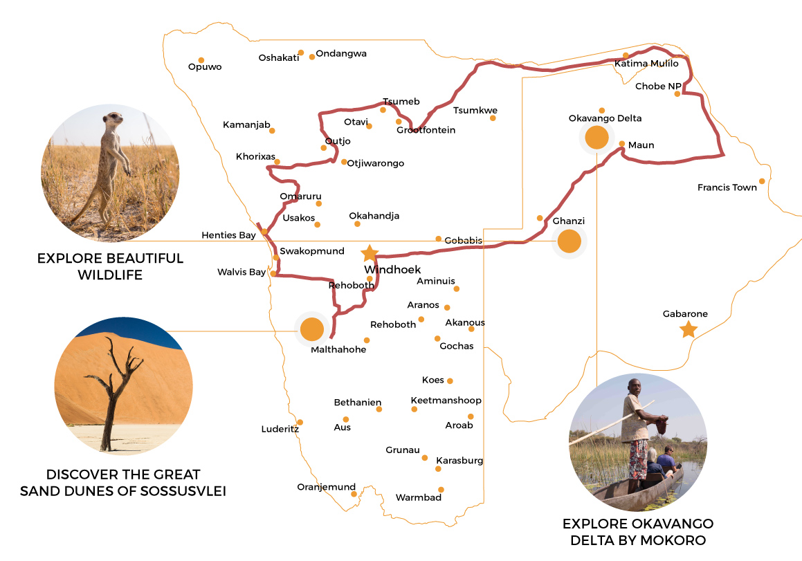 Explore Namibia | Namibia Itinerary and self drive route